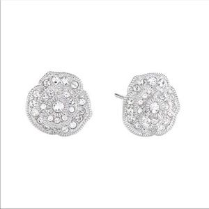 Swarovski Pavé Rose Stud Earrings by Origami Owl